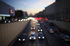 City background with blur cars lights. Night city background with blur cars lights Royalty Free Stock Photos