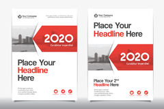 City Background Business Book Cover Design Template in A4 Royalty Free Stock Photography