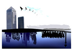 City background, business page template Stock Photography