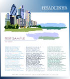 City background, business page template Stock Photos