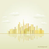 City background illustration. Vector poster Stock Photo