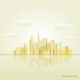 City background illustration. Vector poster vector illustration