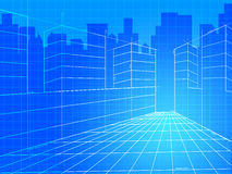 City Background Means Commercial Backgrounds And Corporation Royalty Free Stock Photography