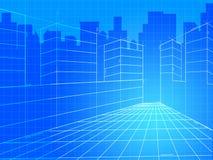 City Background Means Commercial Backgrounds e Corporation illustrazione vettoriale