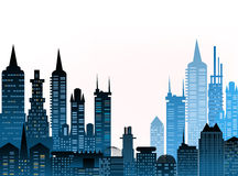 City background with skyscrapers Royalty Free Stock Photos