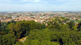 City backround. An aerial view of a little city in Italy named Tortona Stock Photography