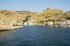Crimea. Ancient and Historical Balaklava Bay. Stock Photography