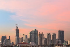 City Bangkok,. City town at twilight, View Point on top of building, Bangkok, Thailand Stock Photography