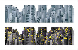 City banner Royalty Free Stock Photos