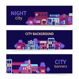 City banner horizontal Royalty Free Stock Image