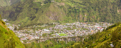 City Of Banos De Agua Santa Panorama Royalty Free Stock Photo