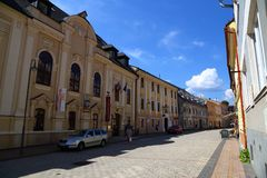 City Banska Bystrica. Slovakia. Old town, ancient town street stock photo