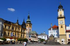 City Banska Bystrica. Slovakia. Old town, the main square royalty free stock photos