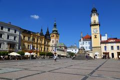 City Banska Bystrica. Slovakia. Old town, the main square royalty free stock images