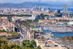 City of Barcelona from Above Royalty Free Stock Photography