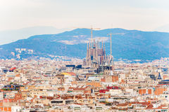 City of Barcelona aerial view Royalty Free Stock Photography