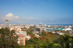 City of Barcelona Cityscape stock photography