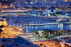 City of Barcelona by Night Royalty Free Stock Image