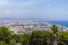 City of Barcelona, Spain. Views from the top of the city of Barcelona Royalty Free Stock Image