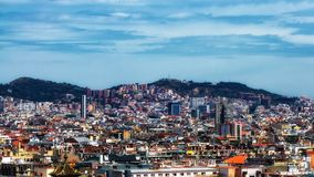 Barcelona Cityscape  Stock Images