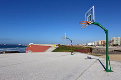 City basket court near the sea Stock Photo