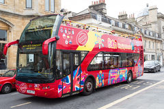 City Of Bath Sightseeing Bus. A City Sightseeing Tour Bus in the Historic City of Bath, England Royalty Free Stock Image