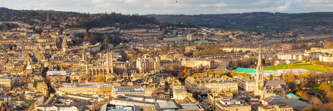 City of Bath Somerset England UK Europe. Overlooking the Georgian City of Bath from Alexandra Park on top of Beechen Cliff, Somerset England Uk Europe Royalty Free Stock Image