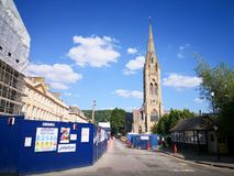Bath town in the morning in Britian. The city of Bath town in the morning in Britian.Some buildings are being repaired royalty free stock photos