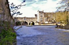 City of Bath waterfall long exposure royalty free stock images