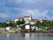 City in the bay. Camamu city and bay - Bahia - Brazil Royalty Free Stock Photos