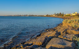 City from the Bay. Melbourne City from Port Phillip Bay Stock Photography