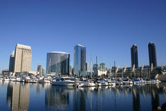 City bay in San Diego. In the morning Stock Photo