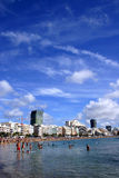 City Beach. Las Canteras Beach on Gran Canaria; great beach sityscape Royalty Free Stock Photo