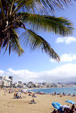 City Beach. Canterasd Beach Las Palmas, Gran Canaria, Spain Stock Photography