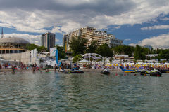 The city beach of Arcadia Royalty Free Stock Photos