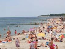 The city beach on the bank of the Baltic Sea. Kaliningrad region Royalty Free Stock Photo