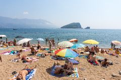 The city beach in Budva, Montenegro Stock Photography