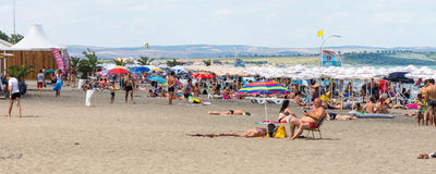 City beach in Burgas, Bulgaria Stock Photo