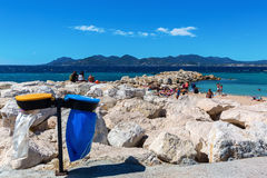 City beach of Cannes, French Riviera, France Stock Image