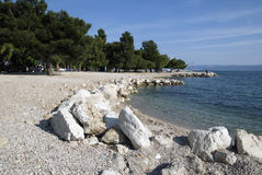 City beach in Crikvenica,Croatia Royalty Free Stock Image