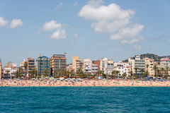 City beach of Lloret de Mar Costa Brava Royalty Free Stock Image