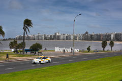 The city beach in Montevideo Stock Photos