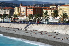 City beach in Nice Royalty Free Stock Photo