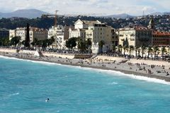City beach in Nice Stock Images