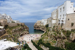 City beach in Polignano a Mare Stock Photo