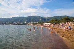 City beach in resort of Gelendzhik in Russia Stock Images