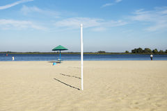 City beach, sand, loneliness Royalty Free Stock Photo