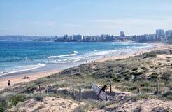 City beach scenery Royalty Free Stock Image