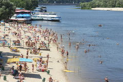 City beach. season Royalty Free Stock Photo
