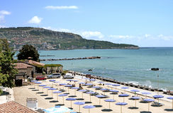 City beach town of Balchik in Bulgaria Royalty Free Stock Images